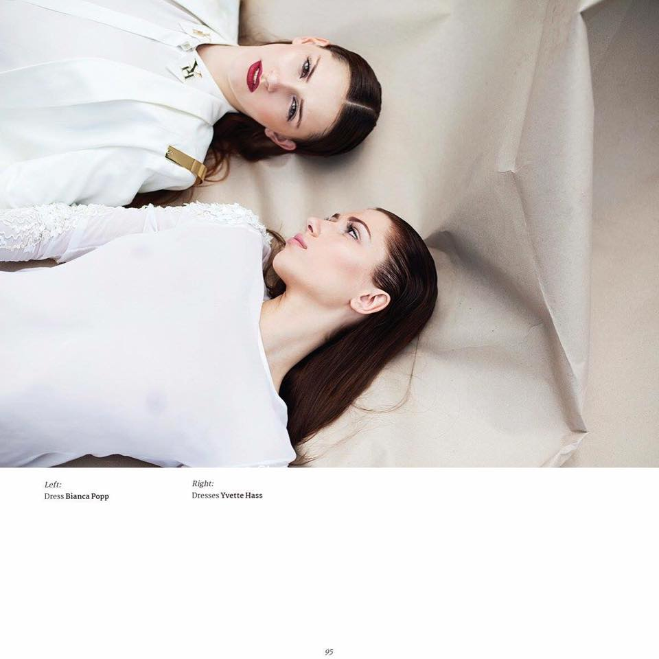 Photography: Roxana Enache Models: Landiana Cerciu and Dariana Cerciu Styling: Elena Ionita Hair Style: Geta Marin Make up: Cristian Buca Outfit: YVETTE HASS Location: Feeric Fashion Week, Sibiu